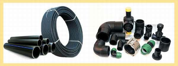 Разновидности ПНД труб и креплений