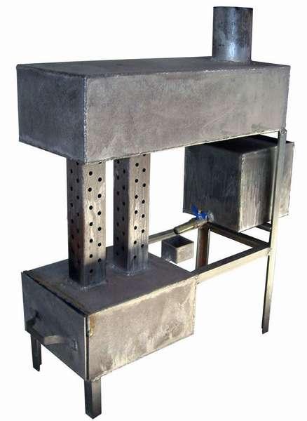 Печка на отработке капельного типа может быть и такой
