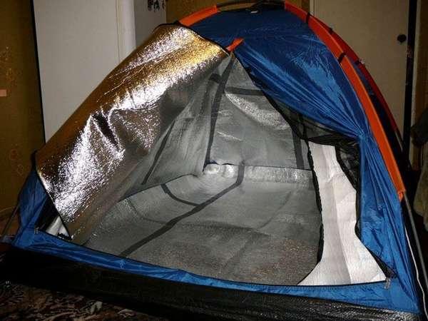 Если палатку утеплить, обогреть ее будет проще