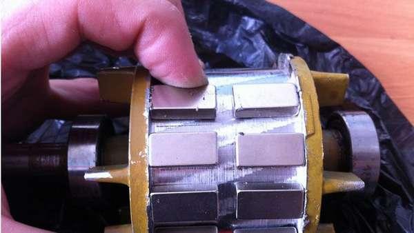 Ротор с неодимовыми магнитами