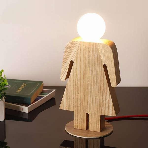 Светильник в виде девочки – оригинальное дополнение к творческой атмосфере