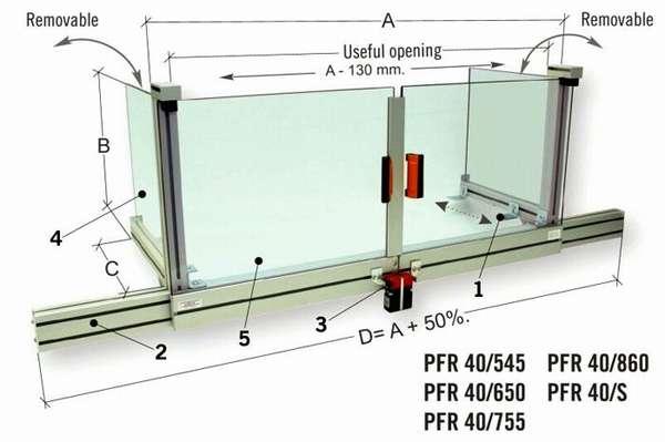 Комбинированный защитный экран профессионального фрезерного станка