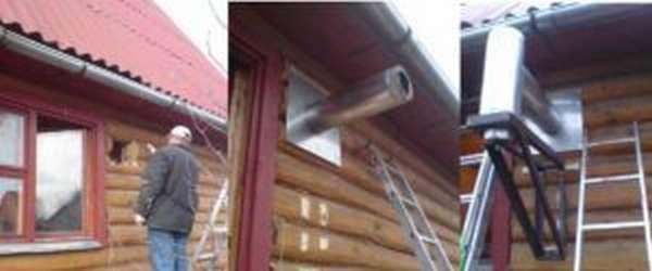 Как вывести трубу от печи через стену?