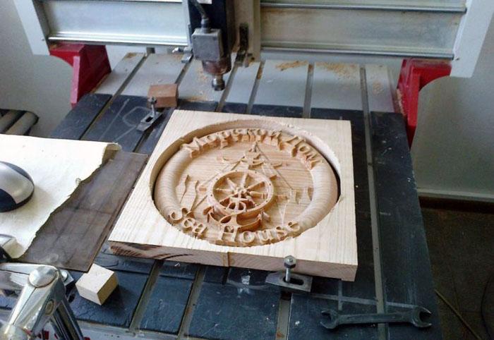 Изделие, изготовленное на станке с ЧПУ по дереву