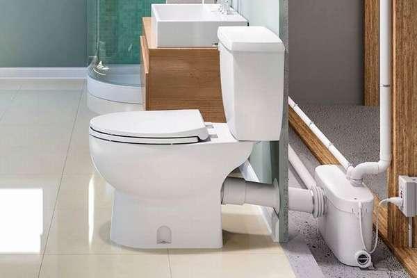 Вариант установки насосной станции в туалете
