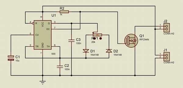 Схема диммера для светодиодных ламп 220 В