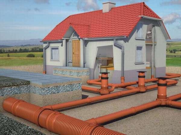 Схема сетей канализации частного дома