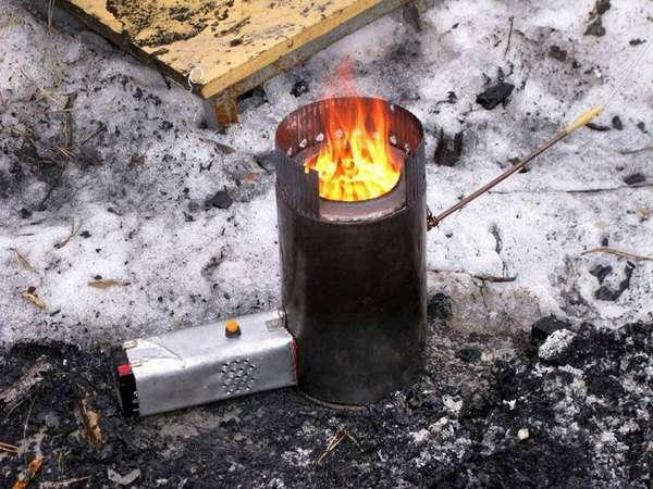 Открытым огнем в палатке лучше не пользоваться