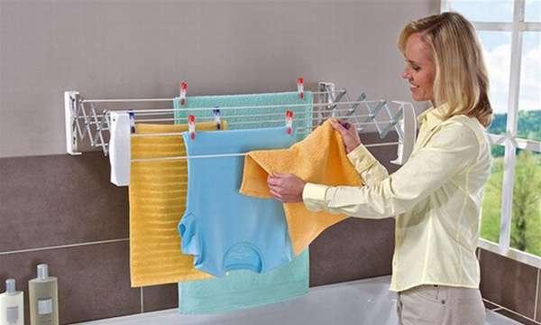 Сушилка с бельем в комнате поможет увлажнить воздух