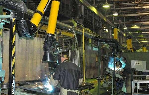 Сварочный аппарат на производстве