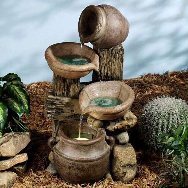 С помощью декоративного водопада (фонтана) можно изменить нужным образом состав атмосферы и одновременно создать оригинальное украшение