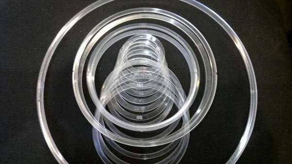 Термокольца имеют различные размеры – нужно подбирать под осветительный прибор