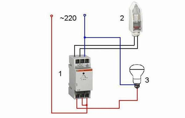Подключение датчика света через автомат
