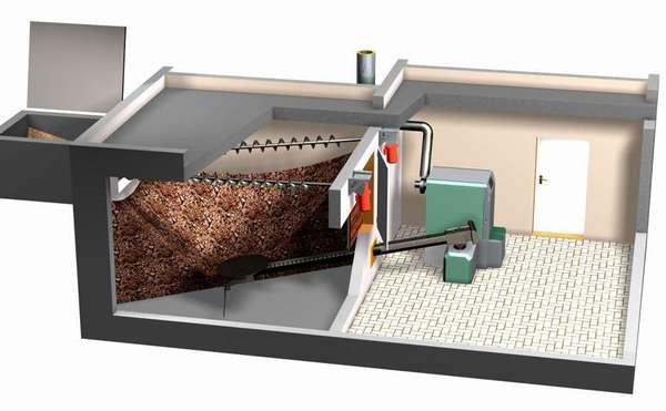 Для подачи гранулированного топлива (пеллет) используют шнековые транспортные системы