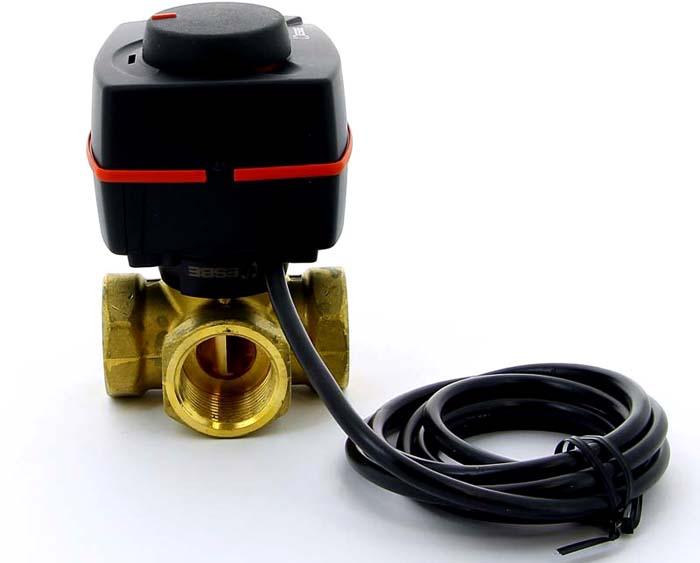 Трехходовой термостатический клапан с электроприводом