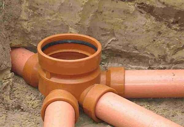Наружная канализация ПВХ трубы