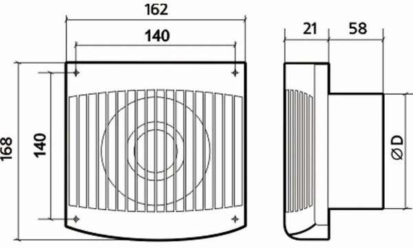 Эти размеры необходимо знать при покупке вытяжного устройства для ванной