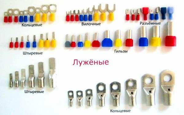 Разнообразие изделий для опрессовки. Два верхних ряда - НШВИ