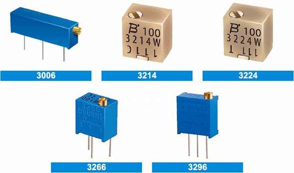 Виды подстроечных резисторов