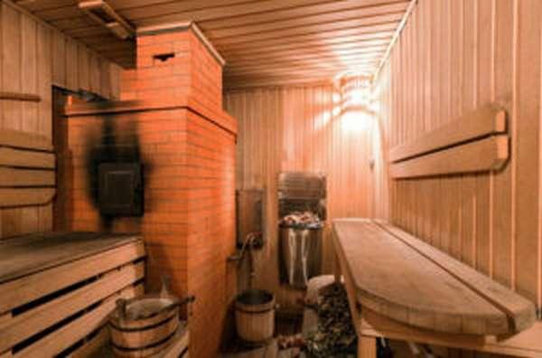 дымоход в бане из кирпича