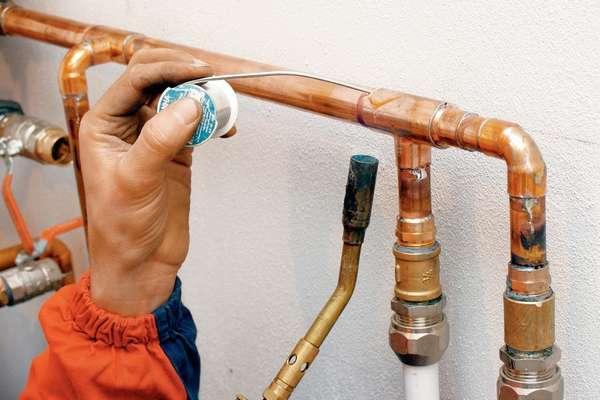 пайка газовой горелкой медных труб