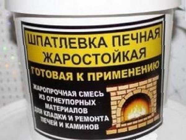 Огнеупорная шпатлевка для печи назначение и применение