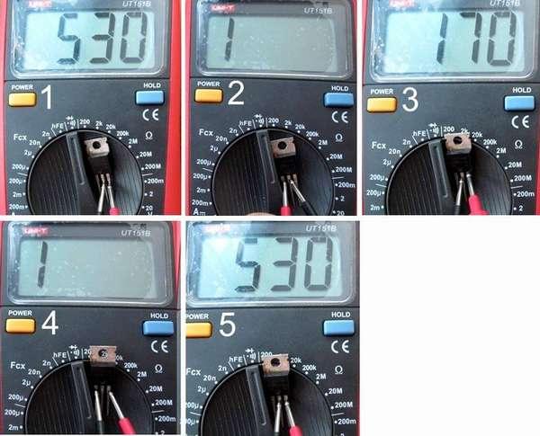 Проверка полевого транзистора