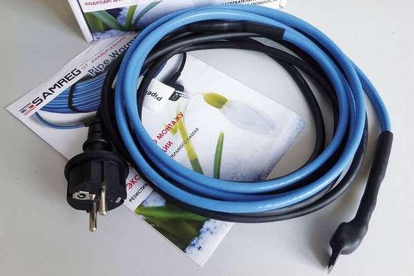 Принцип работы греющего кабеля для канализационных труб, какой лучше и как правильно его установить?