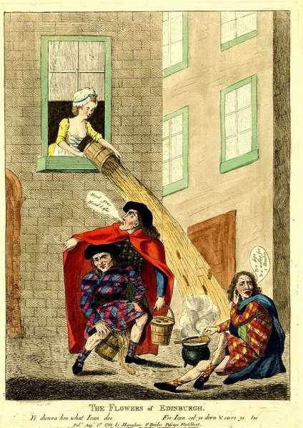 Эффективное удаление бытовых отходов в цивилизованной Европе (Средневековье, Эдинбург, Англия)