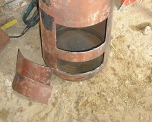 Как сделать печь для казана из газового баллона