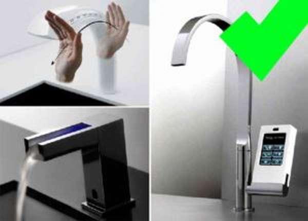 Достоинства сенсорного крана для воды