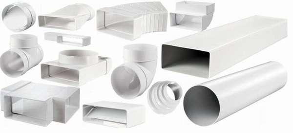 Ассортимент пластиковых воздуховодов