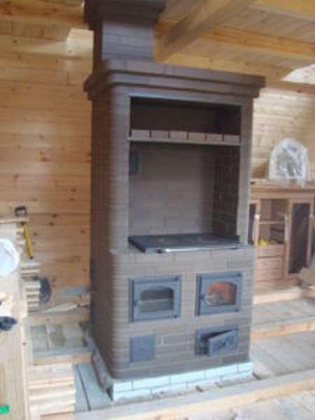 Печь голландка с плитой и духовкой своими руками