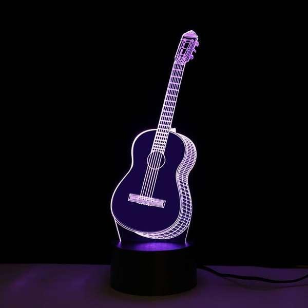 Декоративный ночник в виде гитары