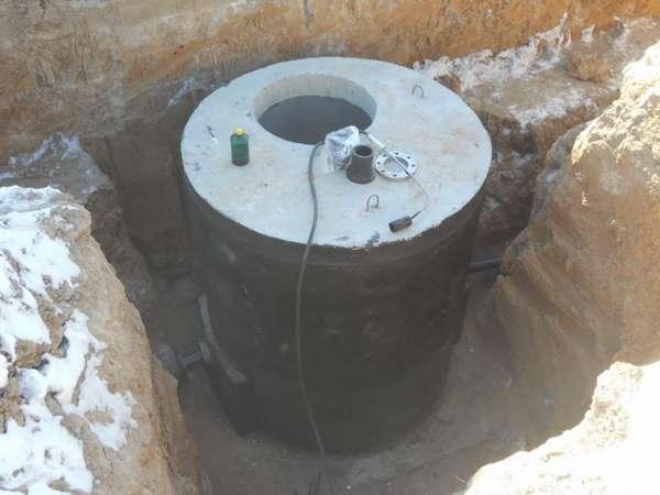 монтаж бетонного колодца