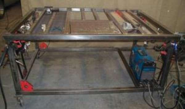 Изготовление сварочного стола своими руками в домашней мастерской