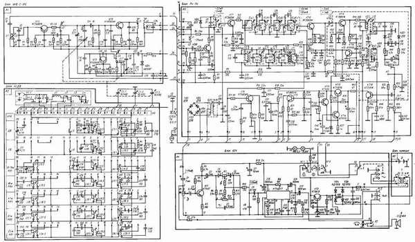 На этой принципиальной электрической схеме указаны параметры, которые используют для правильной настройки