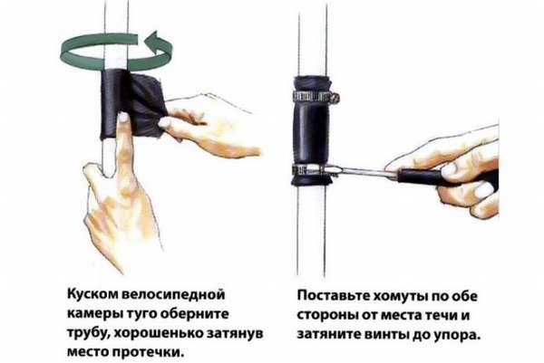 Как заделать трещину на чугунной канализационной трубе в туалете?