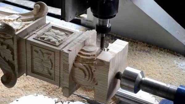 Процесс получения сложного рельефа деревянной заготовки на 3D-станке