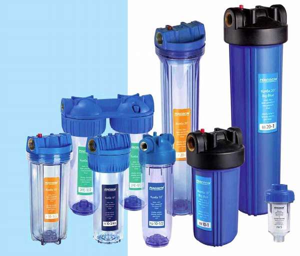 Фильтры очистки воды для квартиры выпускают в разных формах