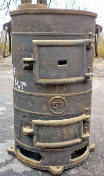 Армейская чугунная буржуйка ПОВ-57