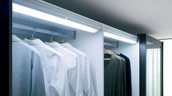 Внутренняя подсветка шкафа для одежды