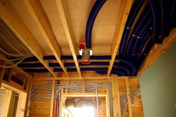 В конструкции активной системы можно использовать гибкие гофрорукава в качестве каналов. Принудительное нагнетание воздуха допускает изгибы вентканала