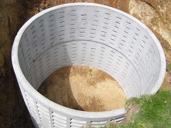 бетонное кольцо с перфорацией