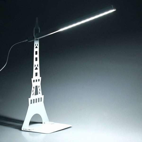 Пример идеального мягкого света от ультрасовременной настольной лампы