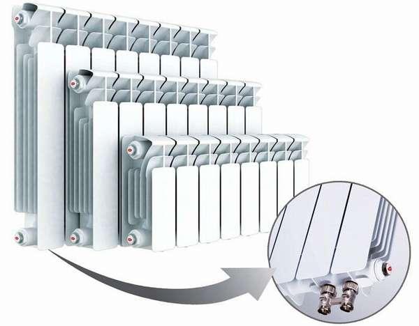 Нижнее подключение отопительных приборов к магистрали отопления