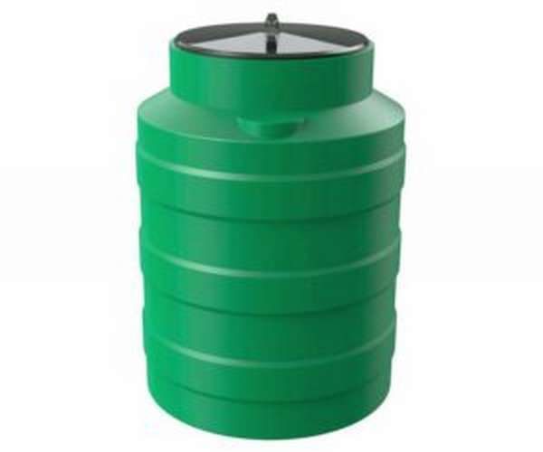 Зеленая бочка-бидон