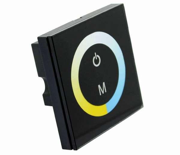 Сенсорная панель может недорого стоить, но к ней нужно покупать сам диммер, монтирующийся в щитке или возле светильника