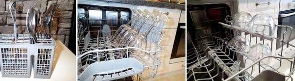 Разборная модель, загрузка посуды
