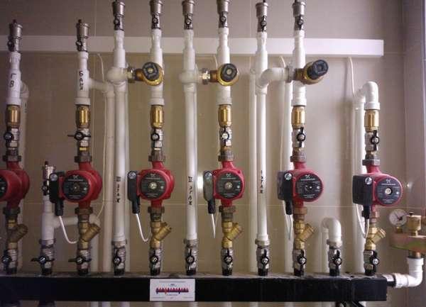 система отопления с циркуляционными насосами